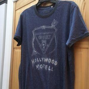 Guess, Tee Shirt, Blue, Size L